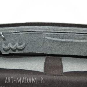 szare torba filcowa - personalizowana -