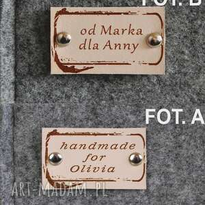 hand made filcu filcowa torba - personalizowana -
