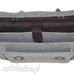 skóra filcowa torba - personalizowana -