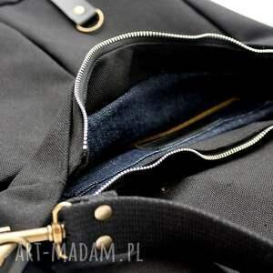 karabinki torba czarna unisex