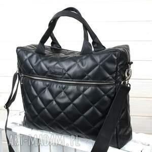 pojemna torba aktówka laptop czarna
