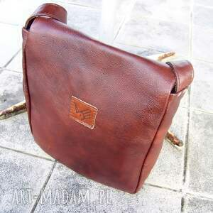 leather prl teczka kasztan antyk