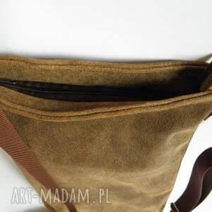 handmade listonoszka torba męska skórzana
