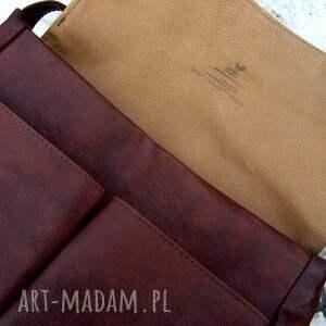 handmade chestnut wielka teka kasztanowa unisex