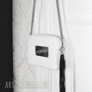 f9476286b5715 srebrne mini letnia biała torebka z blachą. blaszka ...