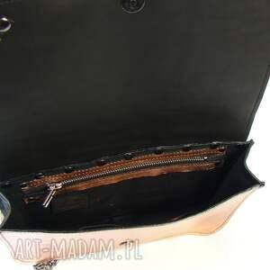 rękodzieło mini torebka skórzana - różowe