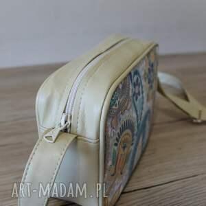 upominek święta beżowe single bag - paisley