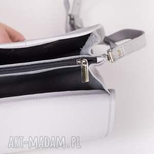 szare mini skórzana torebka camille