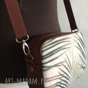 box bag mini brązowe skórzana torebka