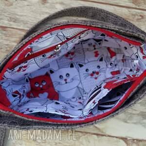 czerwone mini koty torebeczka