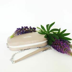 ręczne wykonanie mini torebka bransoletka z połączeniem ze skóry