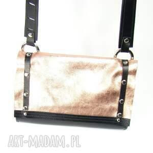 mini torebka skórzana malutka różowe