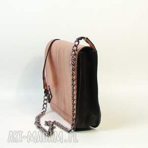 ręcznie wykonane mini skóra naturalna torebka skórzana - różowe