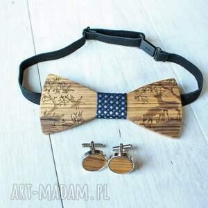 drewniane muchy i muszki niebieskie zestaw drewniana muszka poszetka
