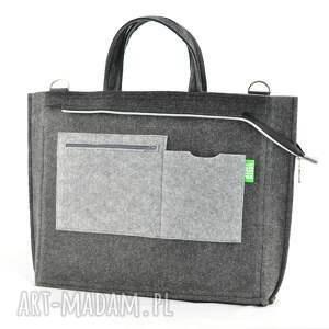 na laptopa torba duża grafitowa torebka - laptopówka
