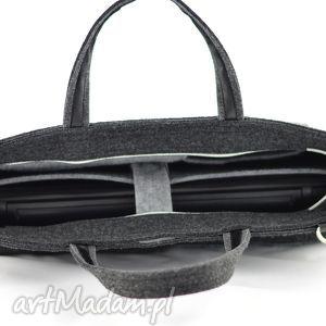 torba na laptopa duża grafitowa torebka - laptopówka