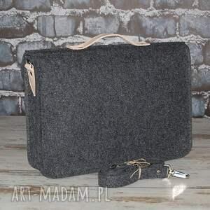 szare laptop filcowa torba na 15