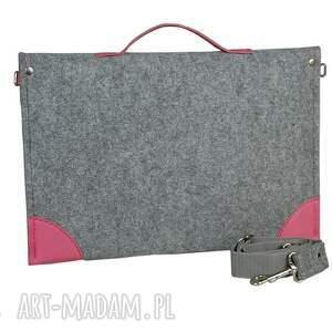 hand made torba filcowa na laptopa - szyta