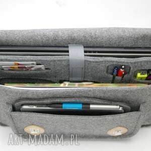 szare haloween filcowa torba na laptopa 15cali