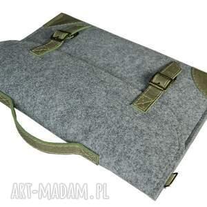 laptop filcowa torba na laptopa - szyta