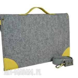 ręcznie robione laptop filcowa torba na laptopa - szyta