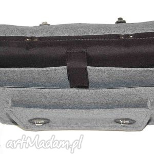 niebanalne na laptopa skóra filcowa torba - personalizowana
