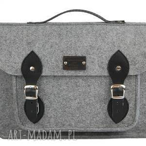 skóra na laptopa filcowa torba - personalizowana