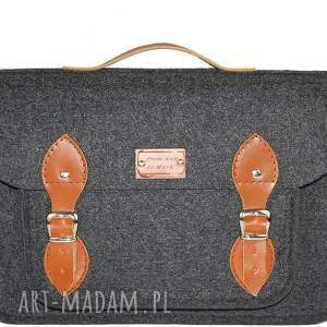 hand made na laptopa filc filcowa torba - personalizowana