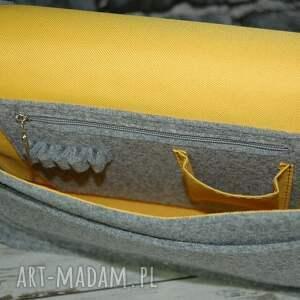 żółte na laptopa torba filcowa torebka ramię