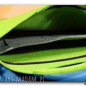 torba na laptopa oryginalna, uniwersalna zielona