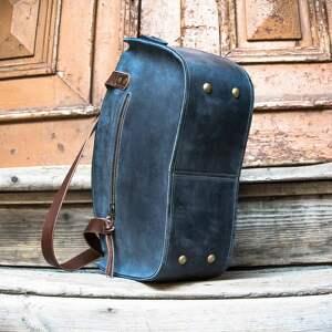 urokliwe torebka na dokumenty piękna torba w kolorze granatowym