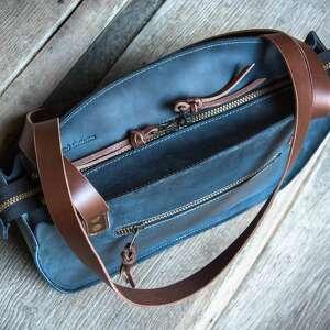 torebka na dokumenty piękna torba w kolorze granatowym