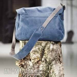 handmade na laptopa torba-skórzana teczka listonoszka skórzana torebka