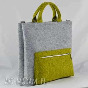 filc zielone torba na laptopa z filcu w kolorze