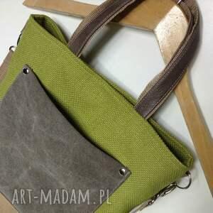 torba na laptopa zielone do ręki, ramię