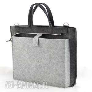 na laptopa kot torba - szara z kotkiem