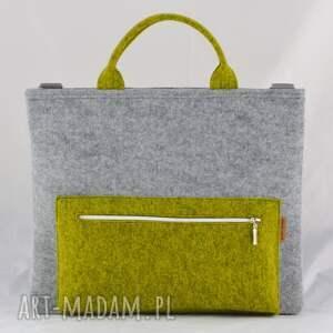 handmade filc torba na laptopa z filcu w kolorze