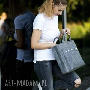 ręcznie zrobione laptop torba na laptopa - szara minimalizm
