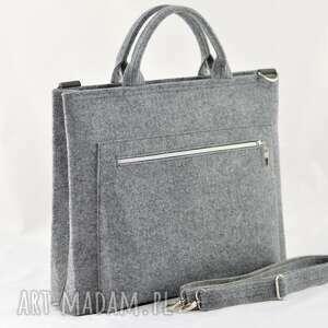 torba na laptopa - szara minimalizm