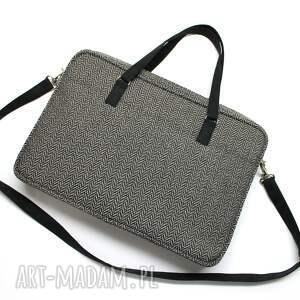 hand made laptop elegancka torba na wykonana z tkaniny