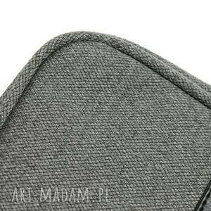 pomysły na prezenty pod choinkę torba na laptop - tkanina szara