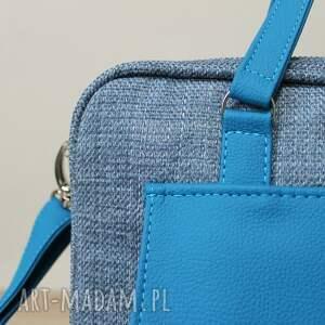 pomysł na świąteczne prezenty laptop torba na - niebieska