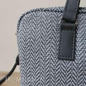 oryginalne torba na laptop - jodełka szara