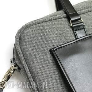 szare laptop torba na - tkanina szara
