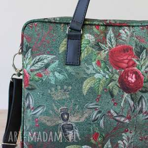 pomysły na prezenty na święta elegancka torba na laptop - pszczoły