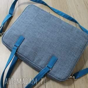 Torba na laptop - ciemna niebieska - dokumenty elegancka