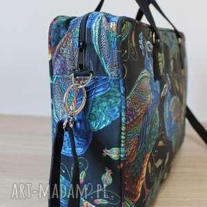 Torebki Niezwykle pomysł na prezenty święta elegancka torba na laptop - pawie
