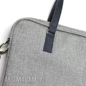 pomysł na prezent święta elegancka torba na laptop - szary metallic