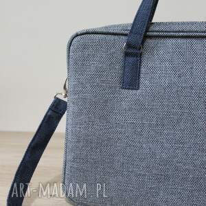 elegancka torba na laptop - tkanina grafit