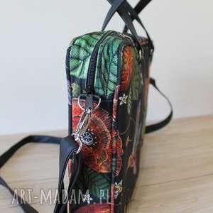 pomysł na prezent na święta elegancka torba na laptop - maki i kolorowe